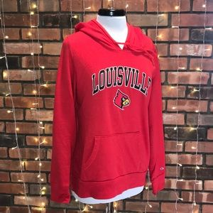 Champion Louisville Red Sweatshirt Hoodie Red